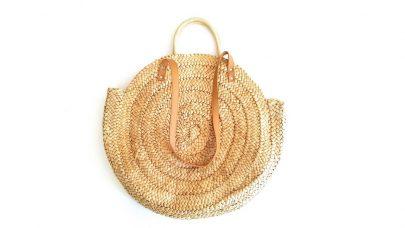 Ψάθινη τσάντα με χερούλι