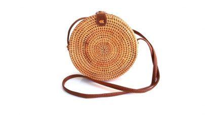 Rattan στρογγυλή τσάντα