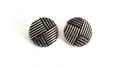 Μεταλλικά σκουλαρίκια με στρας