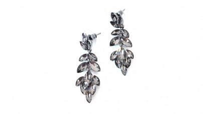 Σκουλαρίκια με κρυστάλλινες χάντρες