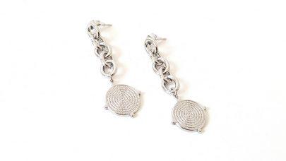 Ατσάλινα σκουλαρίκια με αλυσίδα