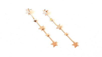 Ατσάλινα σκουλαρίκια με αστέρια