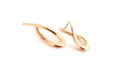 Σκουλαρίκια σε σχήμα κορδέλας