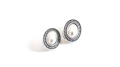 Κοντά σκουλαρίκια με κλιπ και πέρλες