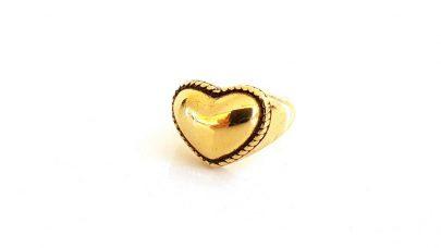 Ατσάλινο δαχτυλίδι καρδιά