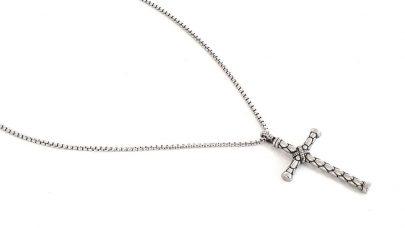 Ανδρικό ατσάλινο κολιέ με σταυρό