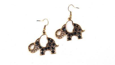Κρεμαστά σκουλαρίκια σε σχήμα ελέφαντα