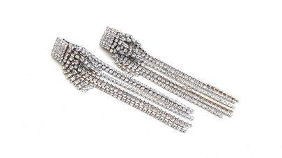 Κρεμαστά κλιπ σκουλαρίκια με στρας